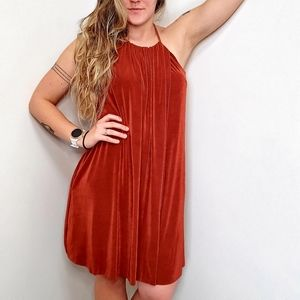 Free People Small Stretch Burnt Orange Dres
